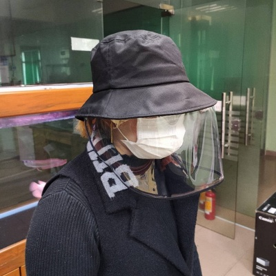Bucket Hat With Mask Eye Protection Fishing Hat Cap Anti-pollen Mask Anti-saliva Cover Full Face Caps 2020 Safety Hat_2