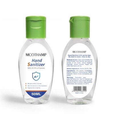 Portable 50 ML Disinfection Spray Liquid Gel Kills 99.9% Bacteria Hand Sanitizer (20 bottles*50ml)