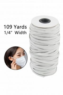 109 Yards Braided Elastic Band White Elastic Cord_1