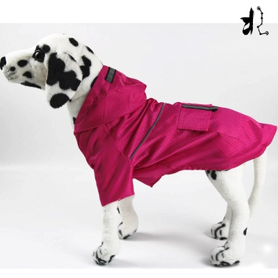 Green Outside Waterproof Hoody Covered Belly Large Dog Raincoat_2