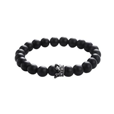 Naturally Stone Pulseira Masculina Beaded Bracelet Onyx Black Yoga Jewelry_9
