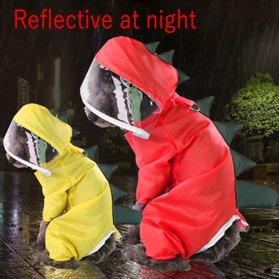 Large Dog Raincoats for Large Dogs with Reflective Strip Hoodie_2
