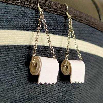 Toilet Paper Earrings Most Memorable Gift of 2020_7
