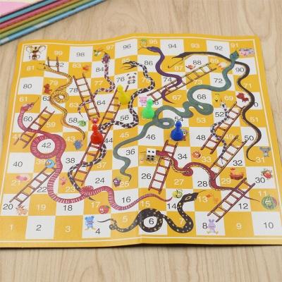 Portable Children Snake Ladder Plastic Flight Funny Family Party Games | Chess Set Board Game Toys for Kids_2