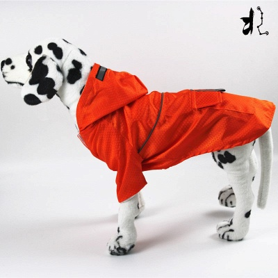 Green Outside Waterproof Hoody Covered Belly Large Dog Raincoat_4