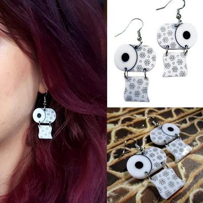 Sterling Silver Toilet Paper Earrings 2020 Best Gift Idea_4