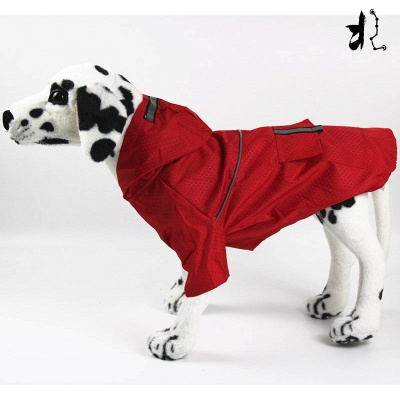 Green Outside Waterproof Hoody Covered Belly Large Dog Raincoat_3
