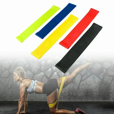 5 PCS Per Set Elastic Rubber Resistance Yoga Stripes With Bag_7