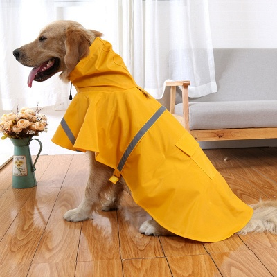 Fashion Pet Dog Raincoat For Mediun Large  Dogs_1
