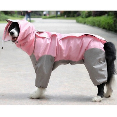 Water Proof Dog Rain Jacket With Hood_2