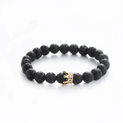 Naturally Stone Pulseira Masculina Beaded Bracelet Onyx Black Yoga Jewelry_6