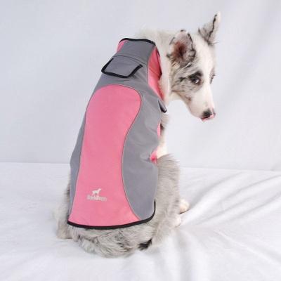 Waterproof Dog Raincoat Hooded with Reflective Strip_1