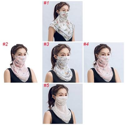 Women's Fashion Face Bandana Ear Loops Face Balaclava Neck Gaiters_2