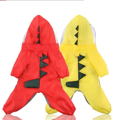 Large Dog Raincoats for Large Dogs with Reflective Strip Hoodie_3