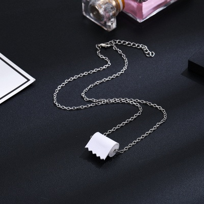 Sterling Silver Toilet Paper Necklace Best Gift Idea of 2021