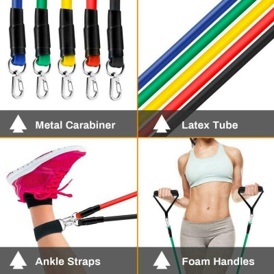 11 Pcs Per Set Pull Rope Fitness Exercises Resistance Bands Latex Tubes Pedal Excerciser Body Training Workout Elastic Yoga Band In Stock_6