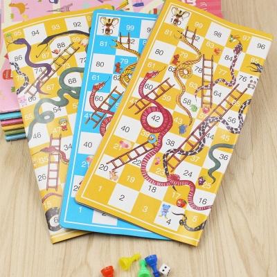 Portable Children Snake Ladder Plastic Flight Funny Family Party Games | Chess Set Board Game Toys for Kids_3