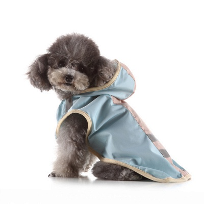 Cute Dog Rain Poncho Fashion Dog Raincoat for Small Medium Dog_3
