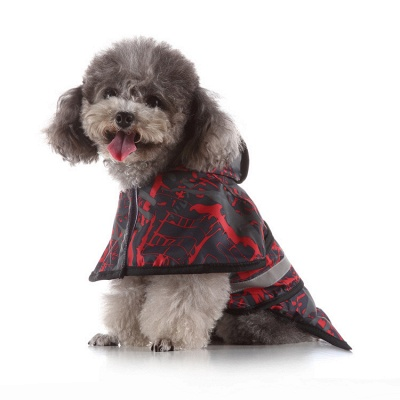 Cute Dog Rain Poncho Fashion Dog Raincoat for Small Medium Dog_4