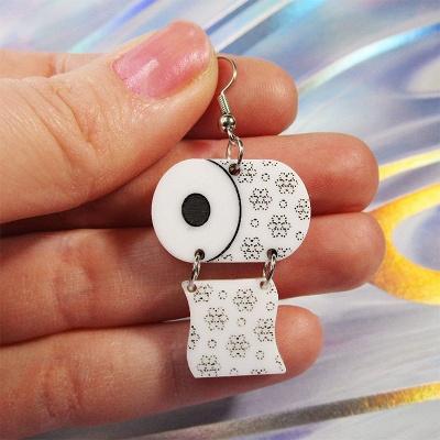 Sterling Silver Toilet Paper Earrings 2020 Best Gift Idea_1