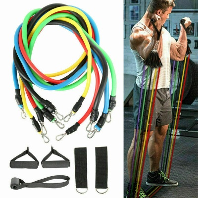 11 Pcs Per Set Pull Rope Fitness Exercises Resistance Bands Latex Tubes Pedal Excerciser Body Training Workout Elastic Yoga Band In Stock