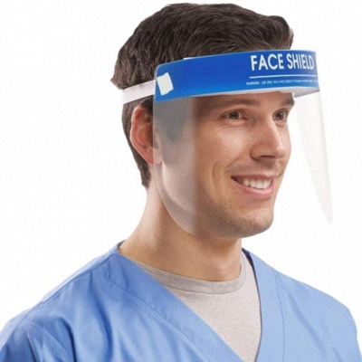 Anti-Fog Face Shield Full Transparent Protective Hat Shield