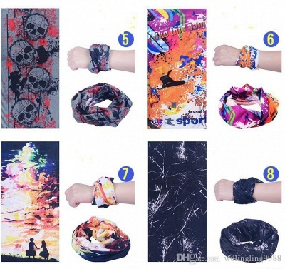 Fashion Paisley Design Stylish Magic Ride Bandana Headband Scarf | Hip-hop Multifunctional Bandana Outdoor Head Scarf