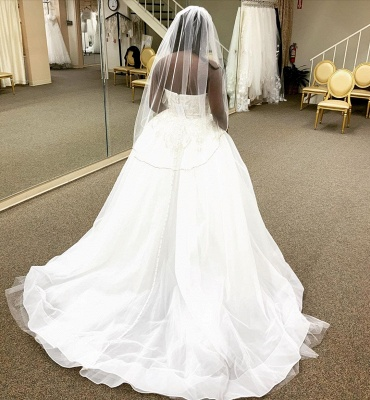 Strapless Lace Column Wedding Dresses With Detachable Skirt_4