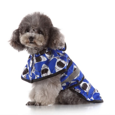 Cute Dog Rain Poncho Fashion Dog Raincoat for Small Medium Dog_2
