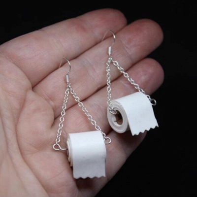 Toilet Paper Earrings Most Memorable Gift of 2020