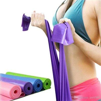 Yoga Pilates Stretch Resistance Band Exercise Fitness Training Yoga Tension Belt   Elastic Stretch Band 1200MM_2