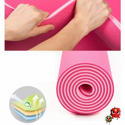 High Density Exercise Fitness Yoga Mat   Workout Ma for Yoga Pilates_11