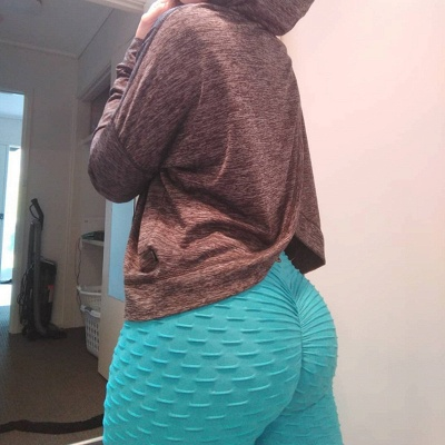 Women High Waist Sports Yoga lu Pants  |  Elastic Fitness Tights Gym Pants_5