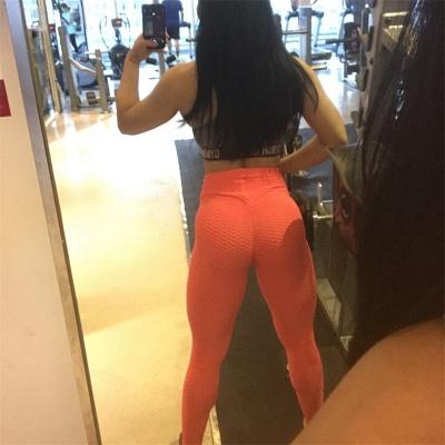 Women High Waist Sports Yoga lu Pants  |  Elastic Fitness Tights Gym Pants_2