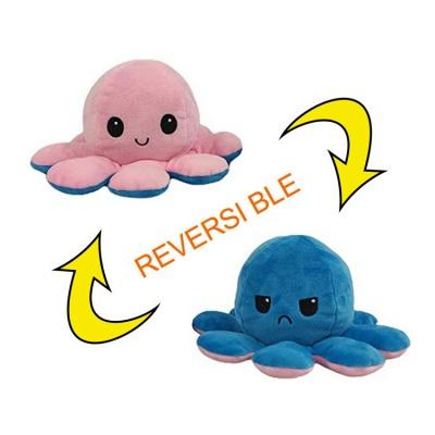 5 PCS Reversible Flip Octopus Stuffed Plush Doll Soft Simulation Reversible Plush Toys Color Chapter Plush Doll Child Toys_10