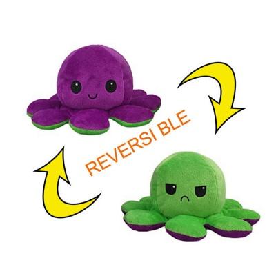 5 PCS Reversible Flip Octopus Stuffed Plush Doll Soft Simulation Reversible Plush Toys Color Chapter Plush Doll Child Toys_8