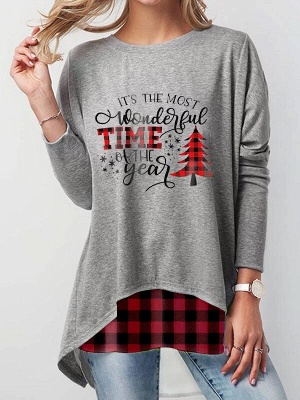 Women's Its The Most Wonderful Time Of The Year Graphic Print Sweatshirt_1