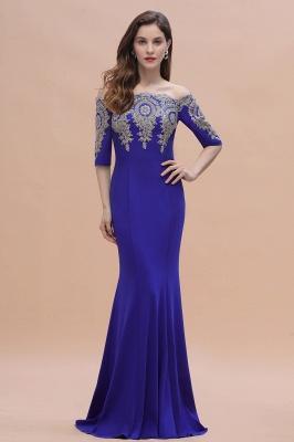 Mermaid Off-Shoulder Chiffon Lace Half Sleeve Evening Dress On Sale_5