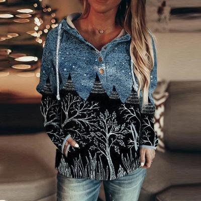 Women's Autumn And Winter Mountain Print Casual Sweatshirt_2