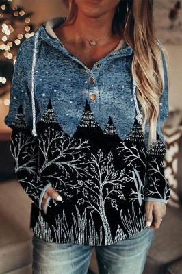 Women's Autumn And Winter Mountain Print Casual Sweatshirt_1