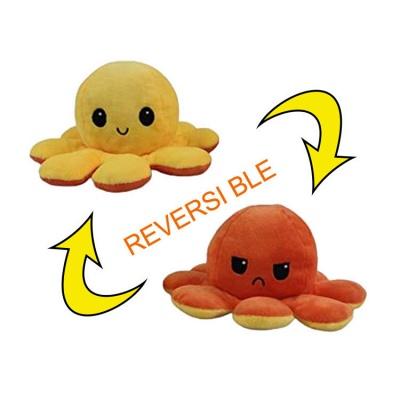 5 PCS Reversible Flip Octopus Stuffed Plush Doll Soft Simulation Reversible Plush Toys Color Chapter Plush Doll Child Toys_6