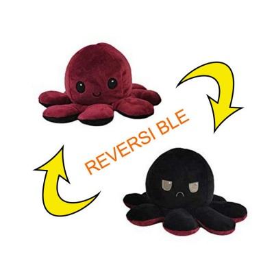 5 PCS Reversible Flip Octopus Stuffed Plush Doll Soft Simulation Reversible Plush Toys Color Chapter Plush Doll Child Toys_2