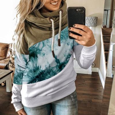 Multicolor Long Sleeve Hoodie Sweatshirt_4