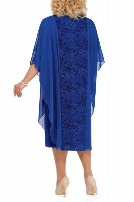 Lace Jewel Half Sleeves Mother of Bride Dress In Burgundy Royal Blue Dark Navy_9