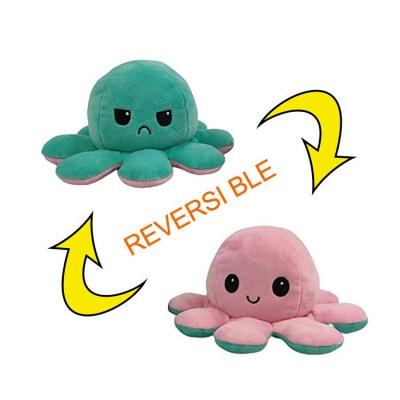 5 PCS Reversible Flip Octopus Stuffed Plush Doll Soft Simulation Reversible Plush Toys Color Chapter Plush Doll Child Toys_4