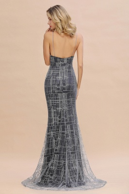 Elegant Mermaid Sleeveless Long Evening Dress On Sale_7