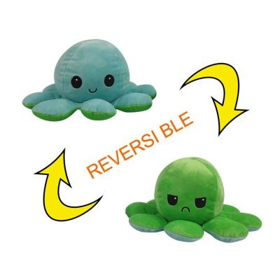 5 PCS Reversible Flip Octopus Stuffed Plush Doll Soft Simulation Reversible Plush Toys Color Chapter Plush Doll Child Toys_7