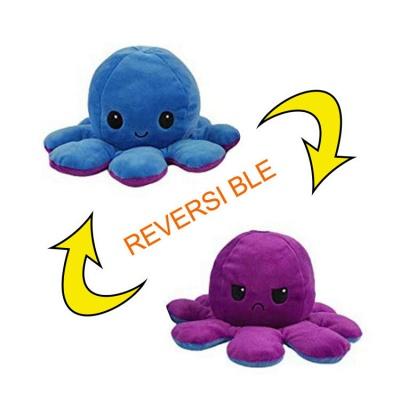 5 PCS Reversible Flip Octopus Stuffed Plush Doll Soft Simulation Reversible Plush Toys Color Chapter Plush Doll Child Toys_13