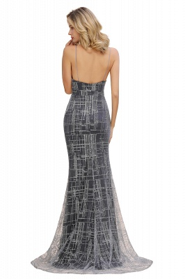 Elegant Mermaid Sleeveless Long Evening Dress On Sale_9