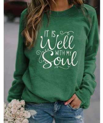 IT IS WELL WITH MY WITH MY SOUL Printed Sweatshirt_4